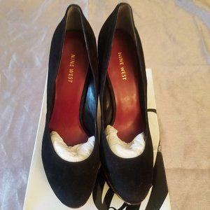 Nine West Leopard Calf Hair Wedge Shoes Sz 11